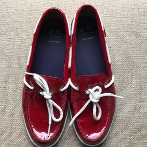 Cole Haan Red Patent Leather Shoes 9M EUC